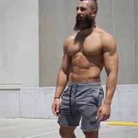 2017New Fashion Men Sporting Beaching Shorts Trousers Cotton Bodybuilding Sweatpants Fitness Short Jogger Casual Gyms Men