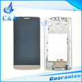 Gold Color Replacement Parts for LG G3 stylus D690 LCD Display Screen with Touch Digitizer with Frame 1 Piece Free Shipping