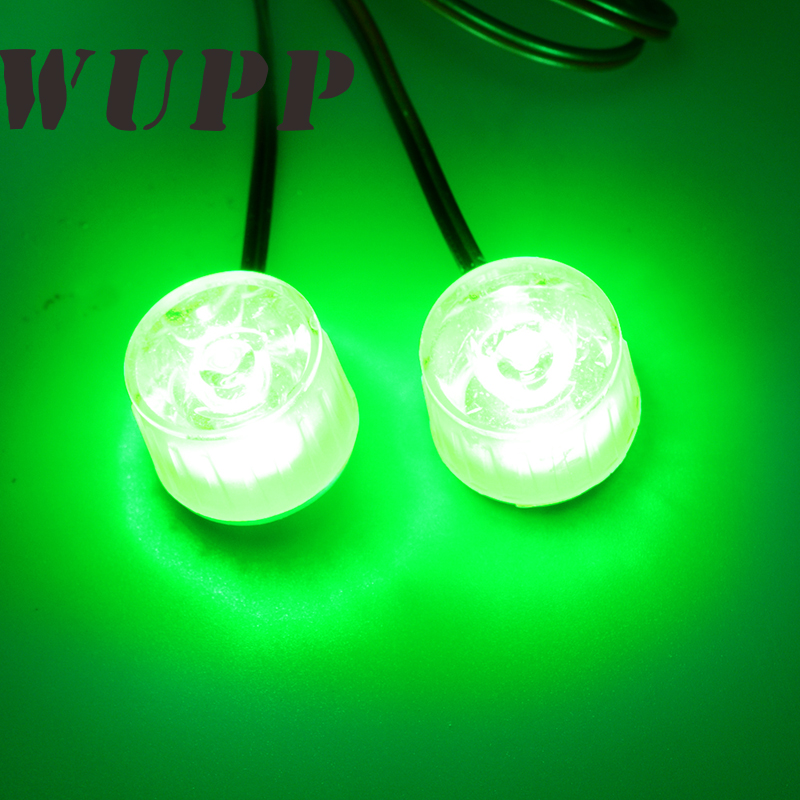 WUPP Cat Eye Decoration Motorcycle Light Universal Mini Motorcycle Signal 2 X 1W 150MA Flash Fog Brake Light