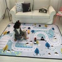 150*195 см большой ковер Северный детский автомобиль городской пейзаж таффик карта шоссе игровой коврик развивающие игрушки для детей спортза