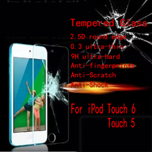 Wholesale 10ps/lot For Apple iPod Touch 6 / touch 5 Tempered Glass 2.5D round edge Ultra Thin 9H Without Retail Package