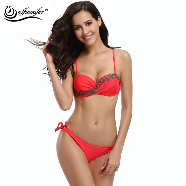 01805ebd207a4 Online Shop JAONIFER Women Bikini 2018 Sexy Micro Low Waist Bikinis Push up Swimsuit  Swimwear Swimming Bathing Suits Brazilian Bikinis | Aliexpress Mobile
