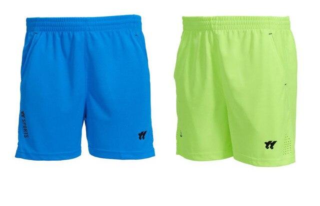 New 2018 Professional Badminton Short Men/Women Breathable Elastic Waist Tennis Shorts Blue Sports Shorts, table tennis clothing