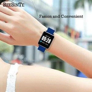 Image 4 - Inteligentne nadgarstek Monitor aktywności fizycznej zegarek wodoodporny z uśpienia monitora inteligentna bransoletka Sport krokomierz Fitness opaski na ramię Hot