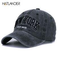 HATLANDER Sand Washed 100 Cotton Baseball Cap Hat For Women Men Vintage Dad Hat NEW