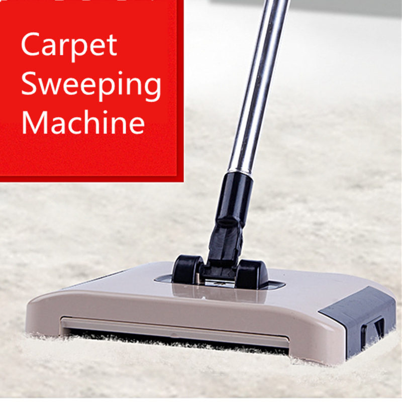 2018 NEW Hand Push Carpet sweeping machine Spinning Broom Lazy Magic Broom Sweeping Machine Vacuum Cleaner Household(China)