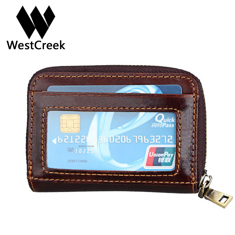Westcreek Brand Genuine Leather Men Organizer Credit Card Holder ...