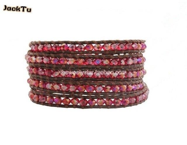 6 мм красный кристалл свадебный браслет ювелирных изделий