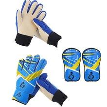 Детский футбольный вратарь перчатки guantes де portero для детей 5-13 лет мягкой вратарь перчатки вратарские перчатки футбол вратарь перчатки вратарская