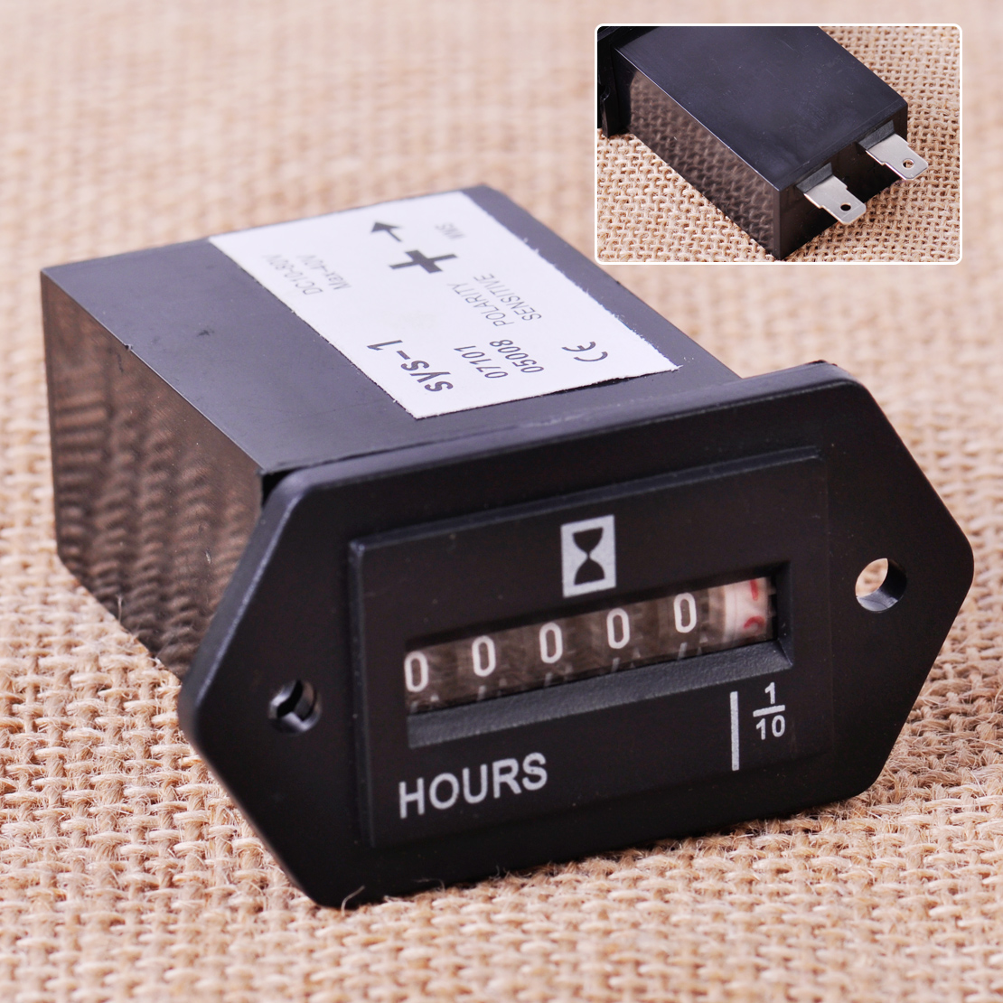 CITALL New Generator Sealed Hour Meter Counter Tractor Truck Hourmeter Rectangle DC 10V-80V for Boats Trucks Tractors Cars