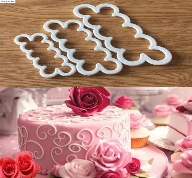 3Pcs/Set Carnations Rose Flower Cake Mold Cookie Cutter Fondant Cake Decorating Tools Sugarcraft Cutter Cake Baking Tool