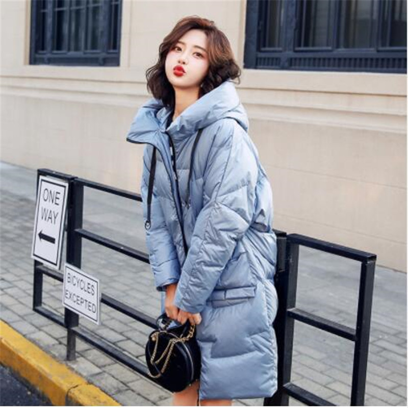 2018 Women Winter   Down     Coats   Jackets Simple White duck   down   Comfortable Wild Loose Women's   Coat   Jacket Outerwear