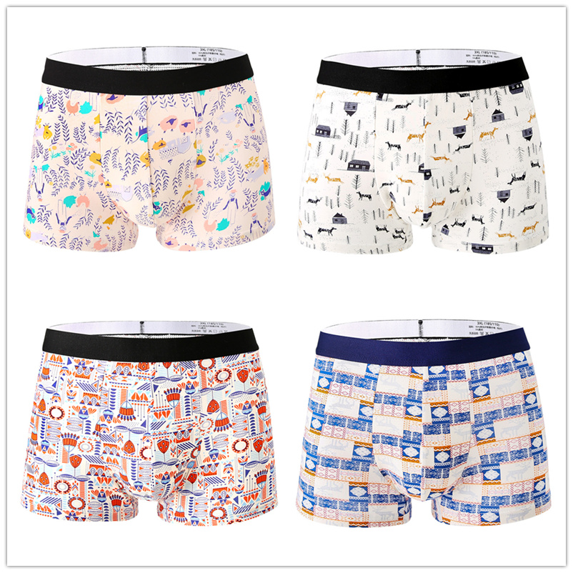 New-4pcs-Fashion-Mens-Underwear-Body-Fit-Breathable-Boxer-Sexy-Print-Boxers-Color-modal-Underwear-4PCS_副本