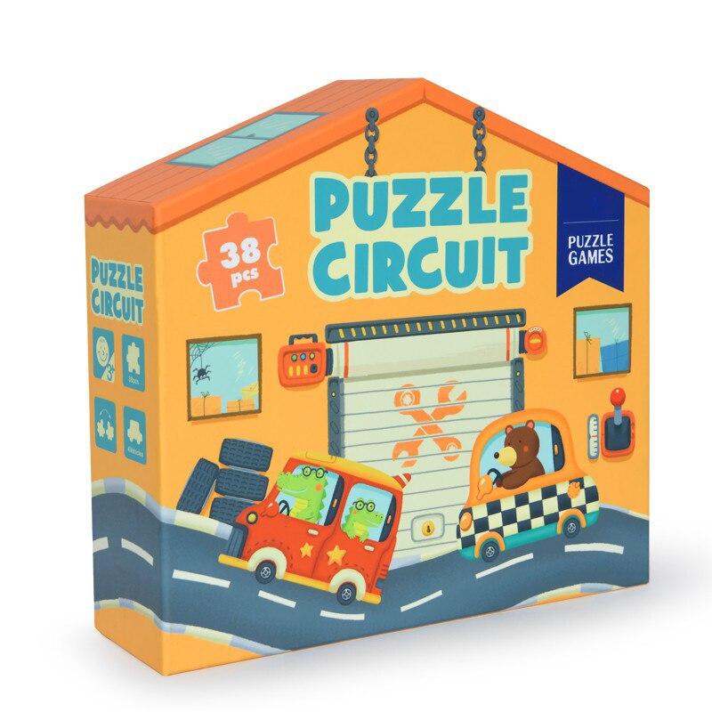 Bébé jeu Animal ville autoroute rivière bateau voiture double côtés puzzles enfants jouets éducatifs bébé préscolaire anniversaire cadeau de noël