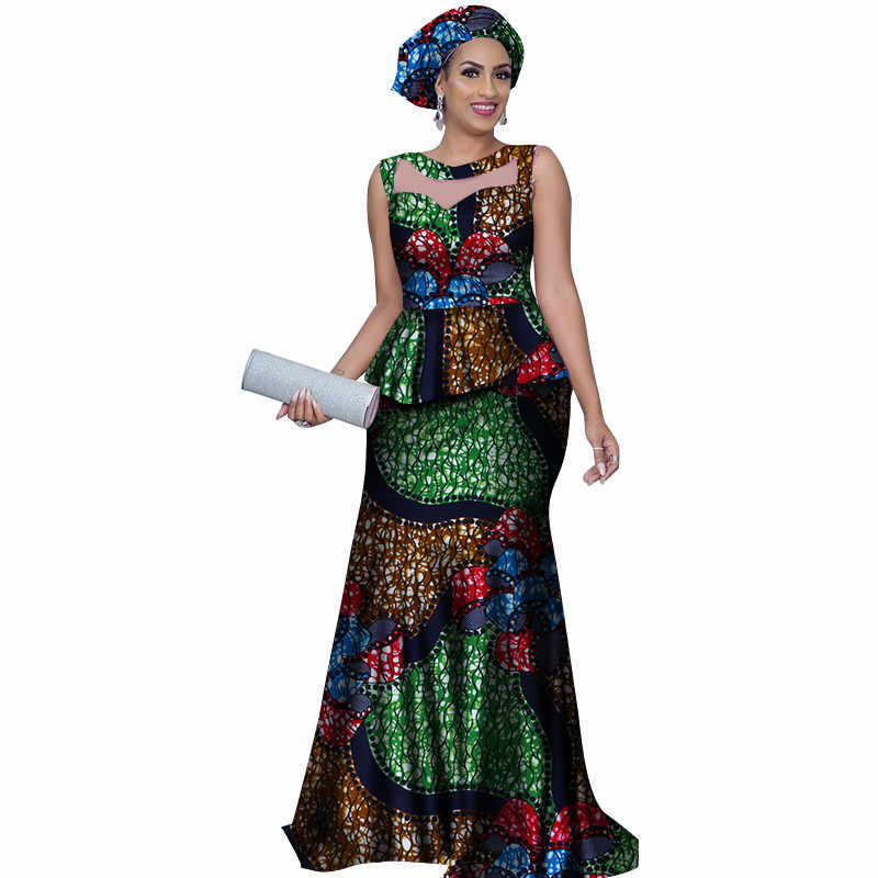 dependable performance Buy Authentic usa cheap sale Traditional African Clothing 2019 Dashiki 2 Pieces Skirts Sets Ankara  Dresses Formal with Headtie Bazin Riche Women Clothes
