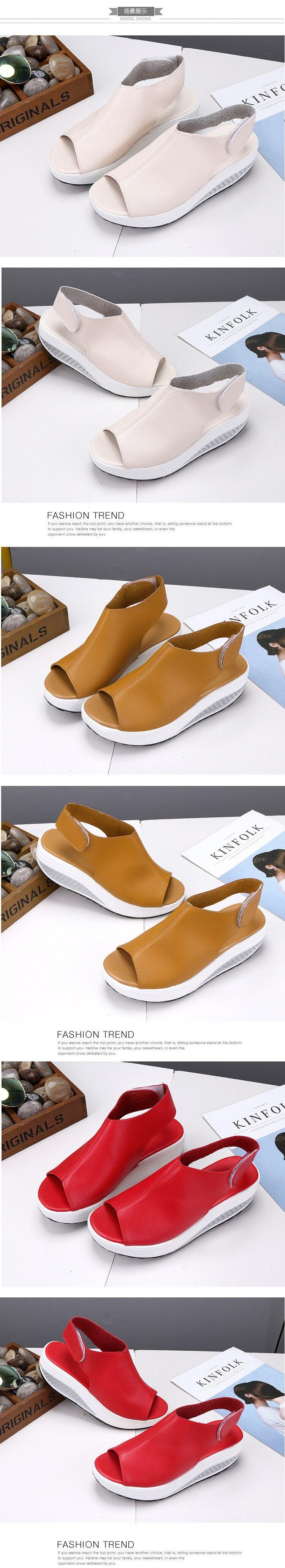 HTB1mllwd1SSBuNjy0Flq6zBpVXa2 2019 Fashion Women Summer Female Sandals Vintage Wedges Platform Shoes Peep Toe Sandal High Heels Fish Toe Shoes Zapatos Mujer99