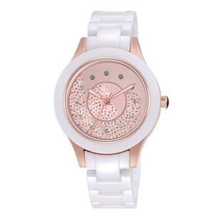 Image 2 - 2019 אופנה חדשה פשוט קריסטל גבירותיי שעון קרמיקה רצועה עמיד למים רב פונקציה קוורץ גבירותיי שעון גבירותיי מתנות Reloj Mujer