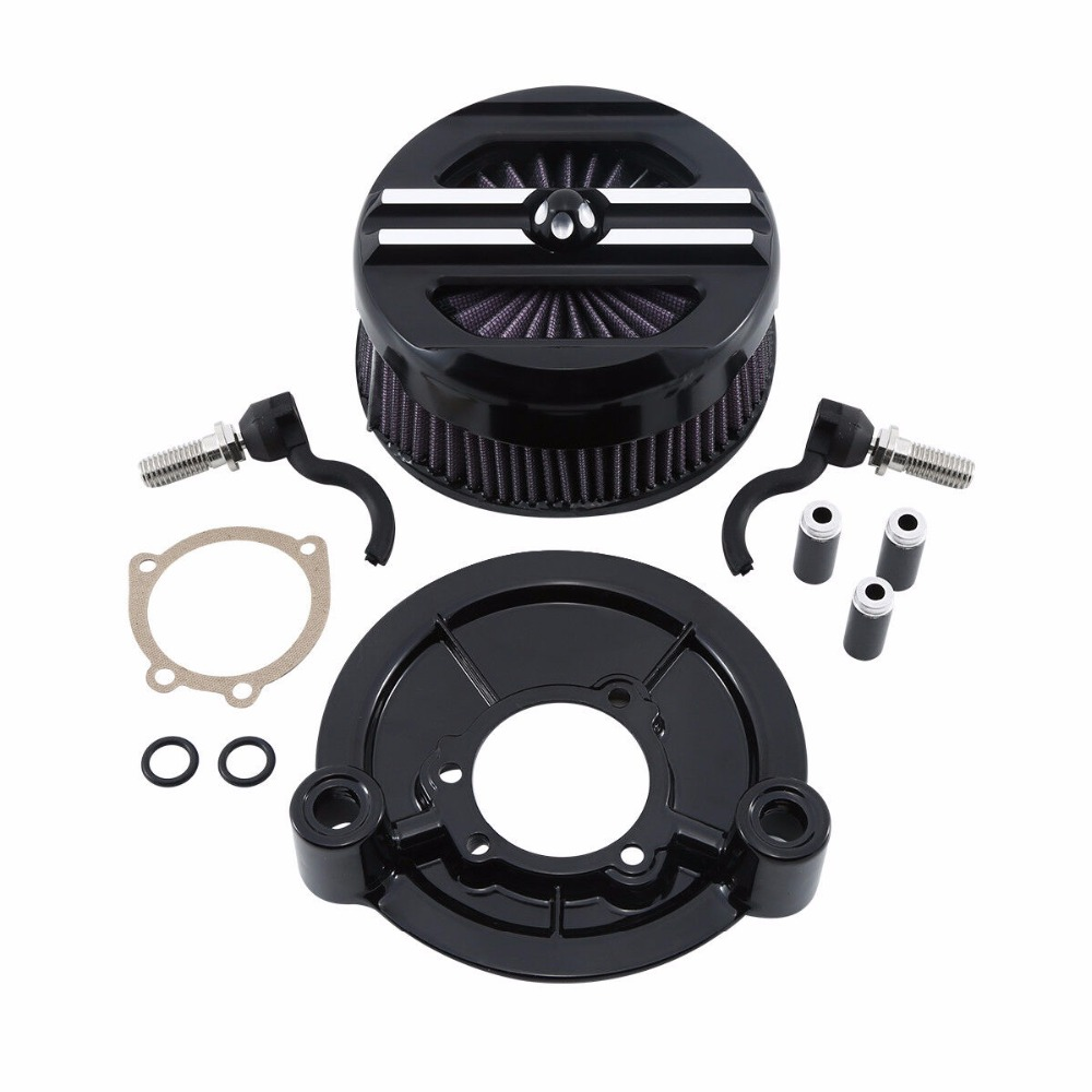 Motorcycle Air Cleaner Intake Filter Set For Harley Sportster XL Models 1200 Custom Iron 883L SuperLow
