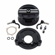 Motorcycle Air Cleaner Intake Filter Set For Harley Sportster XL Models 1200 Custom Iron 883L SuperLow Forty Eight 2007-2019(China)