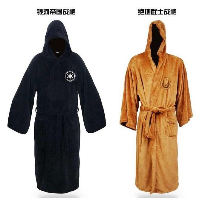 2017 Hot Sale Star Wars Darth Vader Coral Fleece Terry Jedi Adult Bathrobe Robes Halloween Cosplay Costume for Men full set