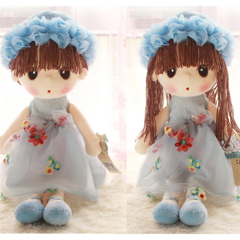 Plush Girls Dolls Fashion Soft Stuffed Fantasy Toys Wearing Lace Dress can Be Change Best Gifts for Kids Birthday for Girls 35cm