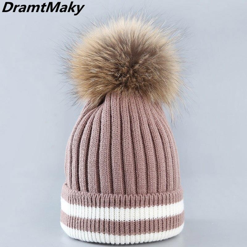 Winter Brand Female Ball Cap Pom Poms Winter Hat For Women Girl 'S Hat Knitted   Beanies   Cap Hat Thick Women'S   Skullies     Beanies