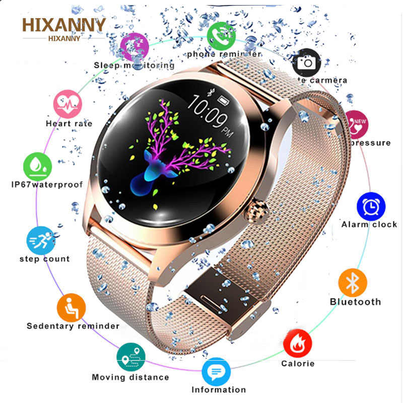 Women Smart Watch Blood Pressure Heart Rate Monitor Sport Activity Fitness Tracker Smartwatch connect Android Iphone Reloj Mujer