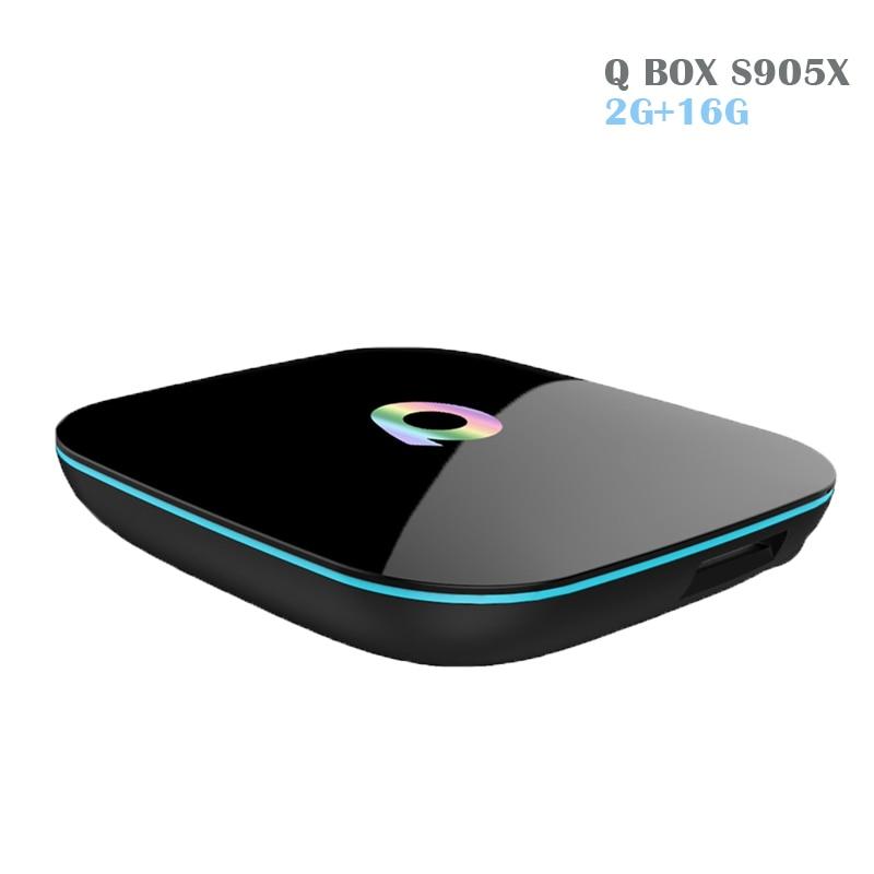 2017 Newest Q box Amlogic s905X Android Tv Box 6.0 2G/16G 1000M LAN KODI 16.0 Pre-installed Media Player better than M8S Z4