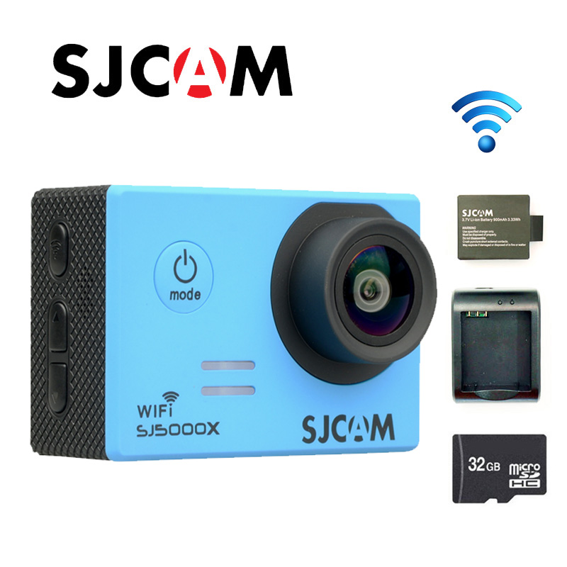 Free shipping!!Original SJCAM SJ5000X Elite WiFi 4K 24fps Gyro Sport Action Camera +Extra 1pcs Battery+Battery Charger+32GB Card free shipping original sjcam m10 wifi mini action camera extra 1pcs battery battery charger car charger holder the monopod