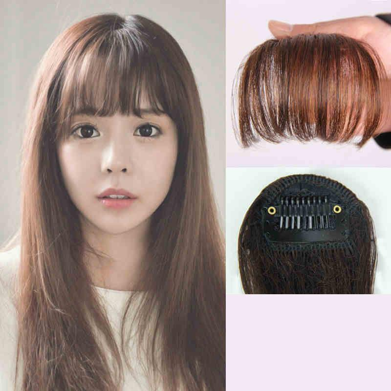 e52d7c018b0 Aliexpress.com : Buy Women Girls Mini Hair Clip Fake Hair Extension  Synthetic Front Fake Blunt Bangs Hairpiece wonder woman costume accessories  from ...