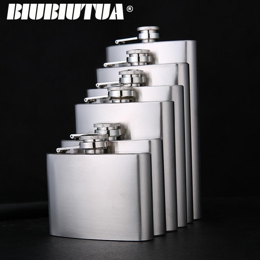 BIUBIUTUA 5 7 8 10 12oz Stainless Steel Mini Hip Flask Spiritus - Køkken, spisestue og bar