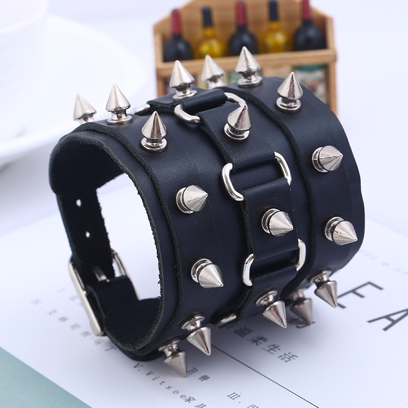 Unisex Spike Studded Rock...