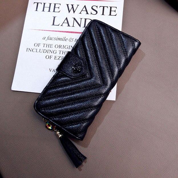 Woman Wallet Ladies Handbag Tassel Luxury Brand Bag Mini Coin Purse Women Clutches Female Bags Of Famous Solid Handbag