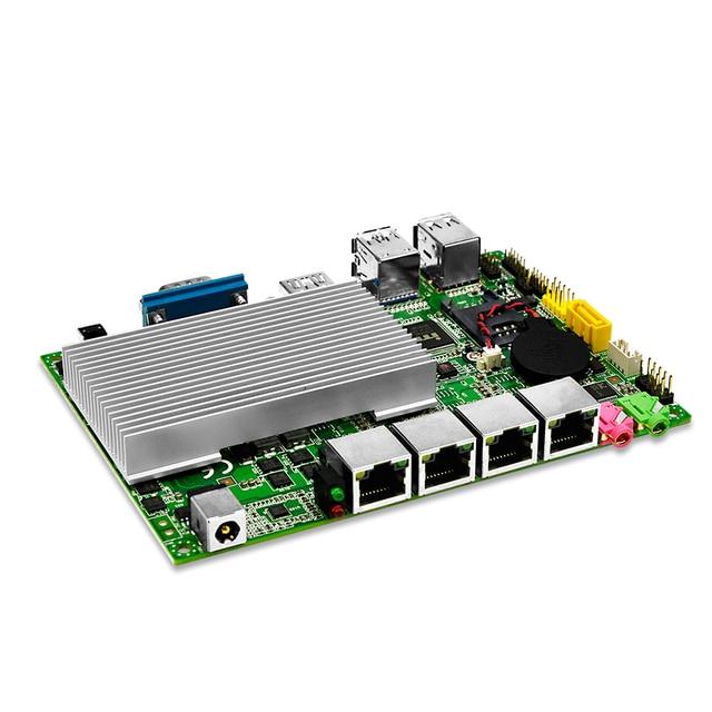 Pfsense Qotom Мини ПК 4 гигабитный микро ПК Core i3 i5 i7 безвентиляторный мини ПК компьютер AES-NI pfsense межсетевой экран маршрутизатор тонкий клиент 4