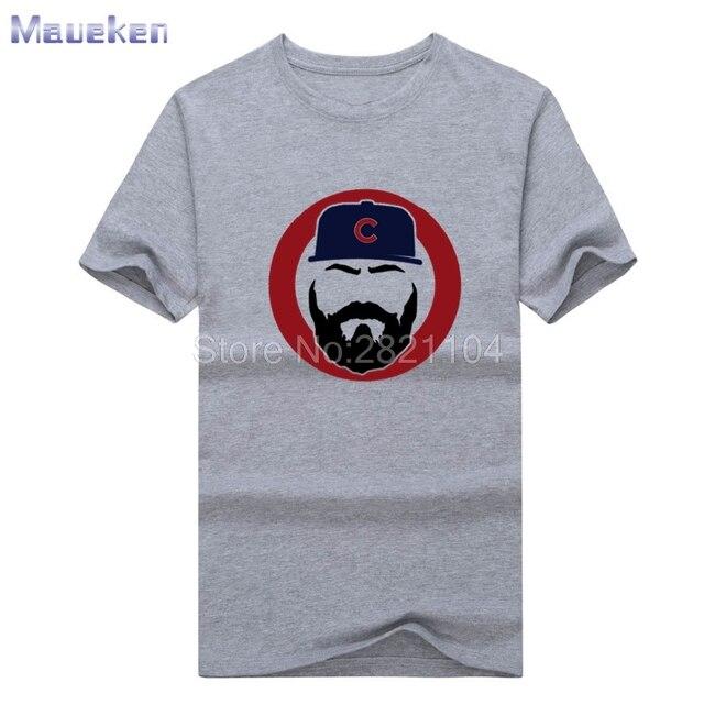 2017 New Jake Arrieta Beard Silhouette Men s T-shirt 100% cotton cubs T  Shirt Short Sleeve 0420-17 8582a0ee9