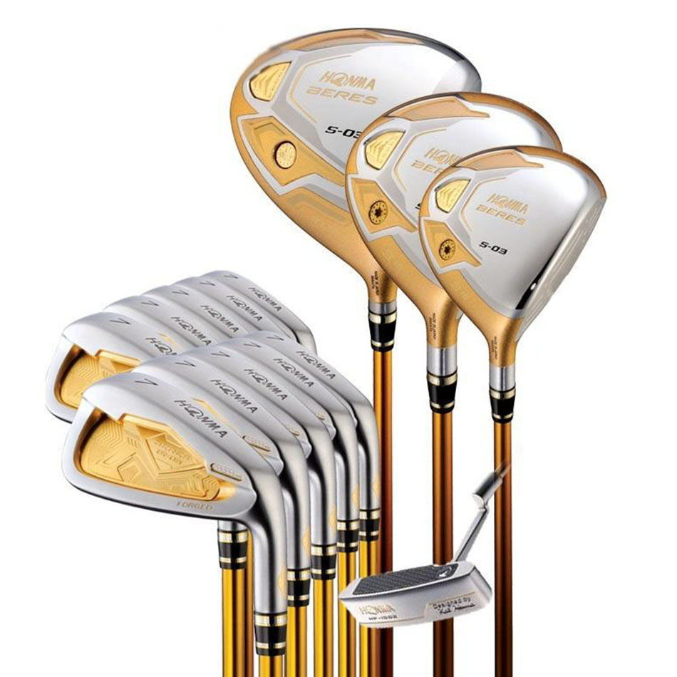 New Golf clubs HONMA S-03 4star Compelete club sets Driver+3/5 fairway wood+irons+putter and Graphite Golf shaft No ball packs golf clubs honma bezeal525 compelete club sets driver 3 5 fairway wood irons putter and graphite golf shaft no ball packs