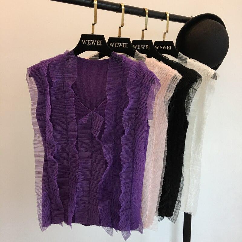Teder Amolapha Vrouwen Gebreide Mesh Vest Truien Mouwloze V-hals Elegante Vrouw Casual Vest Tops