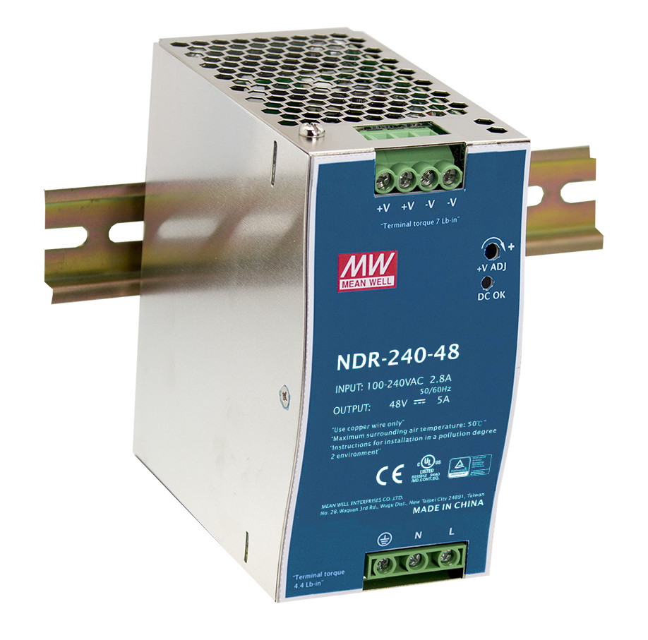 [CA]MEAN WELL original NDR-240-48 2Pcs 48V 5A meanwell NDR-240 48V 240W Single Output Industrial DIN Rail Power Supply ca–clipper 5 2