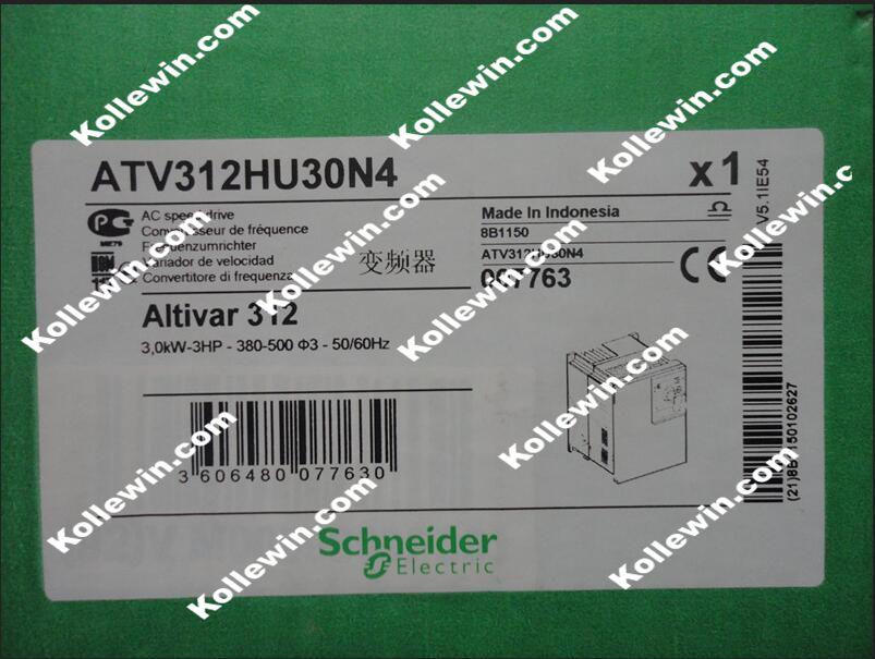ATV312HU30N4 VFD Inverter Input 3ph 380V 7.1A 3.0KW New in box .  Free Manuals and SoftwareATV312HU30N4 VFD Inverter Input 3ph 380V 7.1A 3.0KW New in box .  Free Manuals and Software