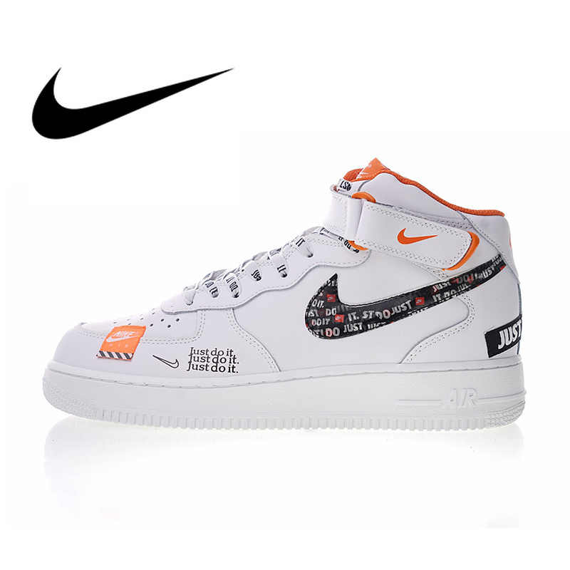 official photos ee073 c91c4 Nike Air Force 1 Mid Men s Just do it Skateboarding Shoes Sport Outdoor  Designer Athletic Sneakers