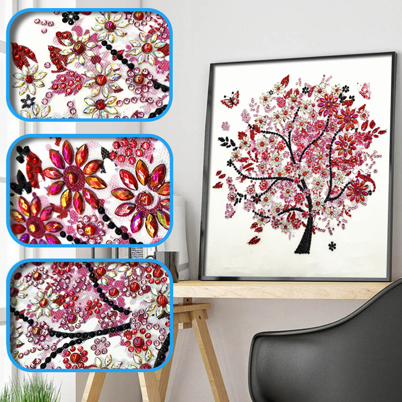 DIY 5D Diamond Embroidery Colorful Tree Butterfly Bead Diamond Painting Cross Stitch Pearl Crystal Sale Hobby Gift Decor 1 (12)
