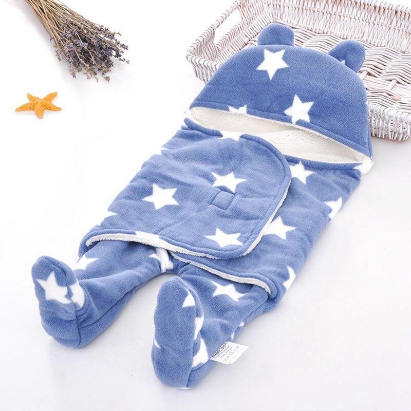 MOTOHOOD Baby Blanket Infant Thicken Flannel Swaddle Stroller Cartoon Winter Blanket Newborn Baby Bedding Blankets Sleeping Bag  (12)