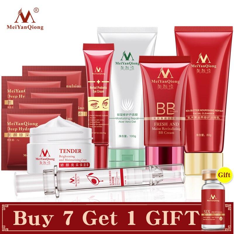 Skin Care Anti-Aging Moisturizing Whitening Cream BB Eye Cream Ance Shrink Pores Serum Hyaluronic Argirelines Facial Treatment