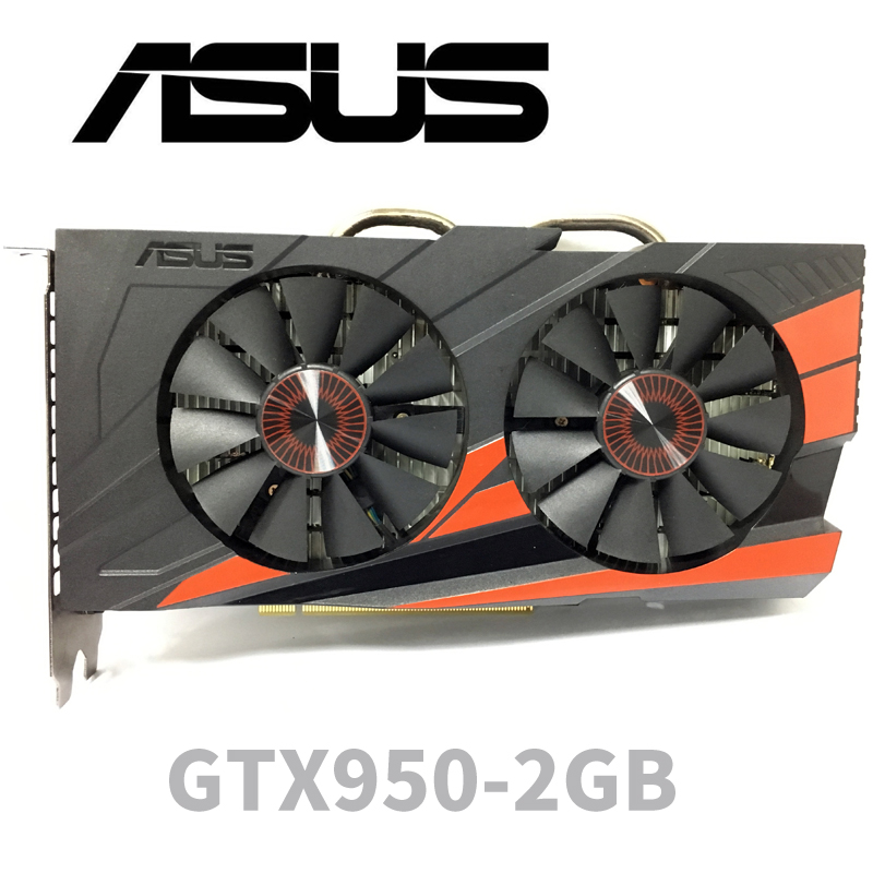 Image 2 - Asus GTX 950 OC 2GB GT950 GTX950 2G D5 DDR5 128 Bit   nVIDIA PC Desktop Graphics Cards PCI Express 3.0 computer  Graphics Cards-in Graphics Cards from Computer & Office