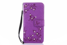 2017 Luxury Case for LG K4 2017 Wallet Flip Leather Stand Case for LG K4 2017 M160 M160E M153 Flash drilling phone bag