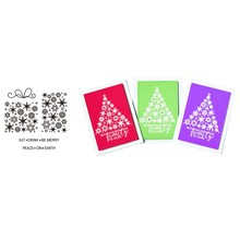 CHRISTMAS SNOWFLAKE Transparent Clear Silicone Stamp Set for scrapbooking/photo album Decorative rubber stamps card making