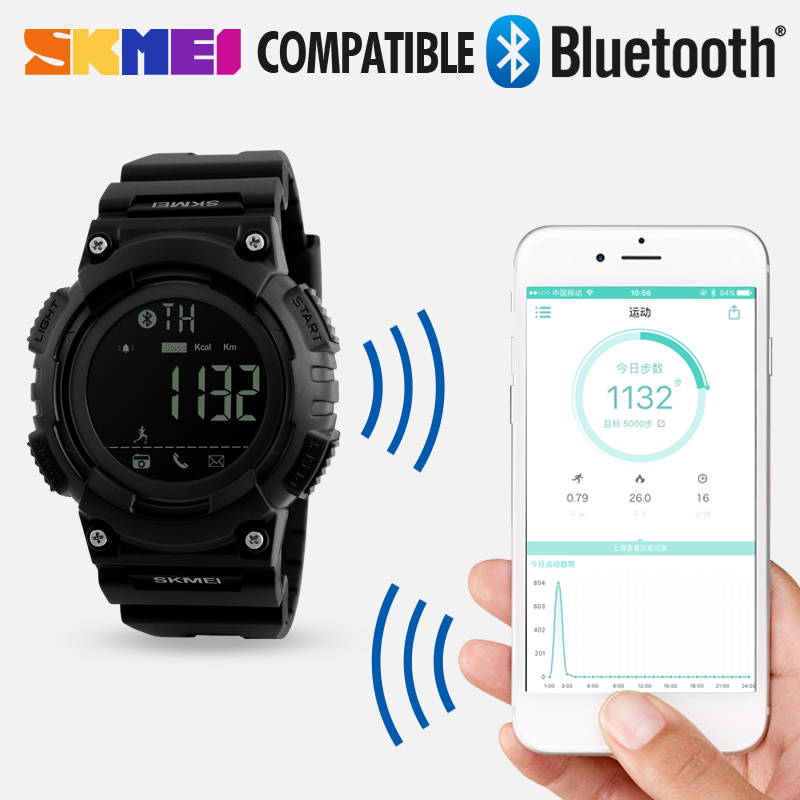 SKMEI Heren Sport Smart horloge Waterdichte Digitale Herenhorloge - Herenhorloges - Foto 3