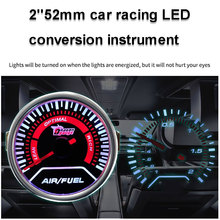 Motormeter Air-Fuel Ratio Gauge Modified Instrument Truck Car Accessories Universal ATV Cars Red Pointer SUV Dashboard Gauge