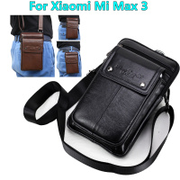 Genuine Leather Carry Belt Clip Pouch Waist Purse Case Cover for Xiaomi Mi Max 3 6.9inch Phone Bag Bags Free Shipping