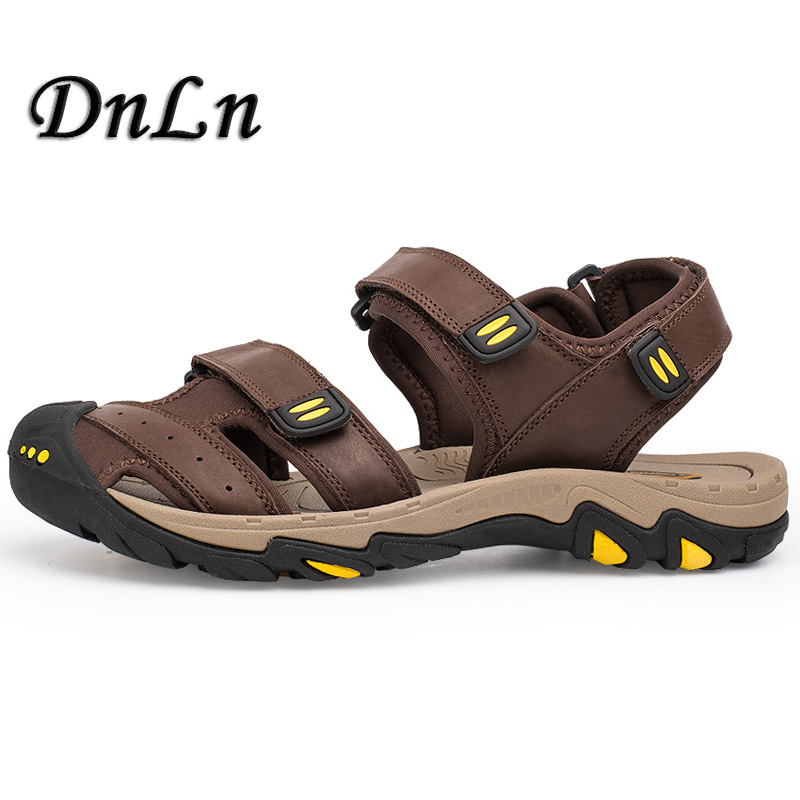 Brand Genuine Leather Shoes Summer New Large Size Mens Sandals Men Sandals Fashion Sandals And Slippers D50